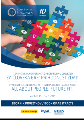 Naslovnica za 7. znanstvena konferenca z mednarodno udeležbo: Za človeka gre: Prihodnost zdaj! - Zbornik povzetkov