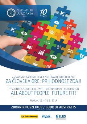 Naslovnica za 7. znanstvena konferenca z mednarodno udeležbo: Za človeka gre - Zbornik povzetkov: 2. izdaja